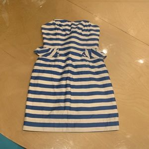 Lily Pulitzer dress blue and white striped